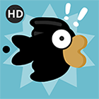 Flippy black bird
